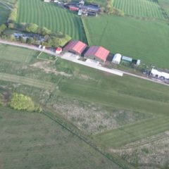 Aerial view of Strathaven Airfield